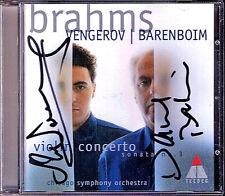 Maxim VENGEROV & Daniel BARENBOIM Sgined BRAHMS Violin Concerto Sonata No.3 (CD)