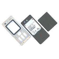 ORIGINALE SONY ERICSSON W880 FASCIA Alloggiamento Argento + Fotocamera VETRO + coperchio delle batterie