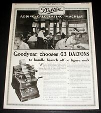 1919 OLD MAGAZINE PRINT AD, DALTON ADDING - CALCULATING MACHINES, FOR GOODYEAR!