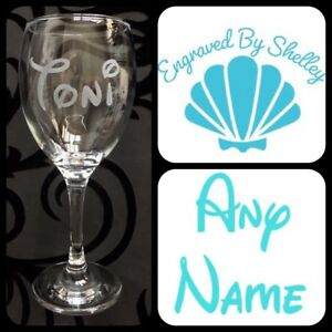 Disney Wine Glass Personalised Gift Any Name Written In Disney Font Wedding Hen