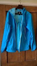 Quiksilver Ladies Lightweight Jacket Cagoule Anorak Medium Turquoise VGC