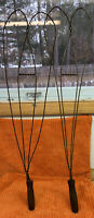 Antique ANGEL WING Primitive Vintage Carpet Rug Beater Twisted Wire Wood Handle