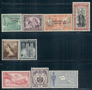 SAMOA 191-222 SG215-238 MNH 1946-58 Commemoratives 3 sets Cat6