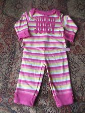 Juicy Couture 2 pc hot pink stripe outfit NWT size 3-6 months