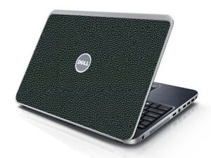 LEATHER Vinyl Lid Skin Cover Decal fits Dell Inspiron 15R N5010 Laptop