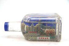 Texas Longhorn Capital Vintage Souvenir Bottle Travel Tourism Snow Globe Dome