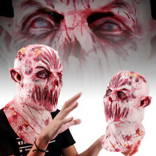 2018Halloween Scary Adult Terrible Bloody Zombie Full Head Face Mask Horror Prop