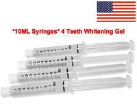 44% Teeth Whitening Gel (4) Tooth Whitener Bleaching Professional Refills USA !