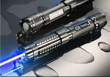 STRONG POWER MILITARY BLUE LASER POINTER 5000000M 500W 450NM FLASHLIGHT BURNING