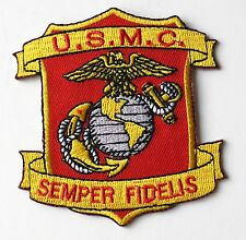 USMC US MARINE CORPS MARINES SEMPER FI FIDELIS EMBROIDERED PATCH 3 INCHES