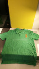"Polo Ralph Lauren Men's XXL Green Shirt Huge Pony ""3"" good shape with flaw"