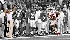 EZEKIEL ELLIOTT 16x28 Photo Black & White w/ Color Ohio State Buckeyes