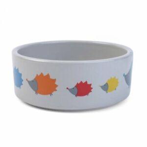 Greedy Little Hoglets Ceramic Dishwasher Safe Quality Dog Bowl 12cm 15cm 20cm