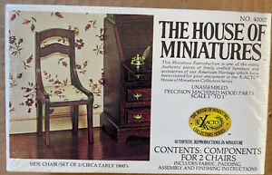 The House Of Miniatures~ Side Chair (Set Of 2)~ NO. 40007
