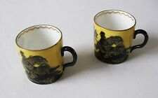 TWO  BEAUTIFUL  STAFORDSHIRE  COFFEE  CAN / CUPS