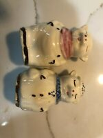 Shawnee vintage Pottery Smiling Pig salt and pepper shaker set