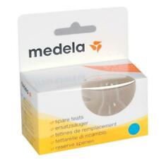 Medela Spare Teats Slow Flow 2 Pack Medium and Small Flow