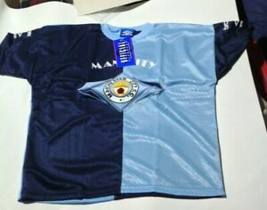 Manchester City FC vintage 1990s  replica shirt by UMBRO blue home S UNWORN