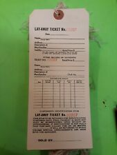 Qty 45 Layaway Tags 3 Part Reinforced String Merchandise Price Manila Strung