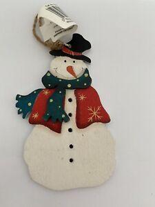 Wooden Snowman Christmas Decoration