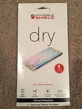 Zagg Invisible Shield Dry Screen Protector Samsung Galaxy S6 Edge + Plus  NEW