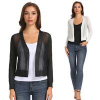 Stylish Womens Shrug Bolero Cropped Top Open Front Casual Cardigan Jacket Coat