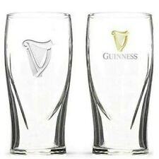 New listing Set of 2 Genuine Guinness Irish Stout Beer Pint Glass 16oz New