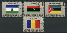 United Nations UN 2018 CTO Flag Series 54 Lesotho Libya 4v Set Flags Stamps