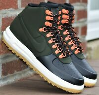 Nike Lunar Force 1 Duckboot 18 - New Men's Boots Sequoia Green Black Duck Boots