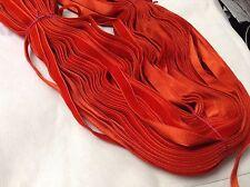 "20 Yards Red HANK FRENCH 3/8"" Vintage Rayon Satin Back Velvet Ribbon"