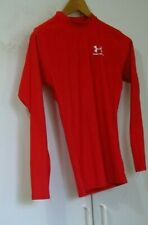 Under Armour Red Long Slv Compression Shirt Top S Small