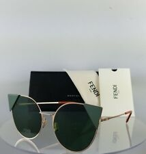 5ef176584f Brand New Authentic Fendi FF 0190/S Sunglasses DDB07 Gold Green 57mm 0190
