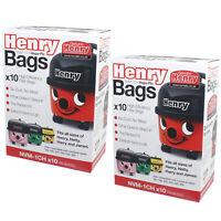 20 x Numatic Henry Hetty Vacuum Cleaner Dust Bags 604015 HepaFlo Hoover Bag