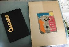 Pascal Cucaro 1960's Artist Proof Woodblock Print w/Book - Personal Collection