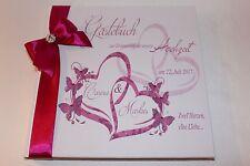Hardcover Gästebuch zur Hochzeit , fuchsia pink