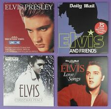 Selection of Elvis Presley UK Newspaper Free Gift CDs