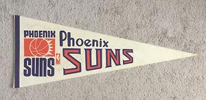 Autographed Phoenix Suns NBA Vintage 1969 NBA Basketball Full Size Pennant, Flag