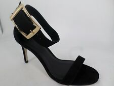 Asos ladies Buckle Ankle Strap Barely There Sandals Black UK 4 EU 37 LN084 AA 10