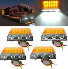 4PCS 15 LED Truck Trailer ATV UTE Cab Clearance Side Marker Lamp White and Amber
