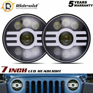 7 Inch Round Projector LED Headlights DRL For Porsche 911 912 914 924 928 944