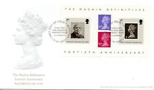 2007 Sg MS2743 40th Anniversary of Machin Definitive Minisheet First Day Cover