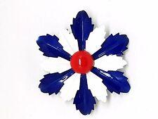 Red White Blue Enamel Flower Power Vintage Brooch
