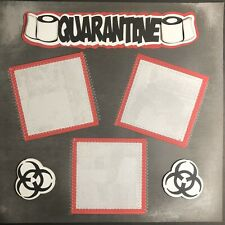 Sewn Premade Scrapbook Page 12x12 Quarantine Pandemic Stay At Home Paper Pieced