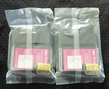2 Magenta Ink Cartridges for Brother Printers B-LC11/16/38/61/65/67/980/990/1100