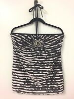 On Stage Australia necklace black white top size 12 womens
