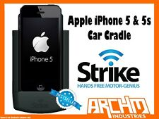 STRIKE ALPHA APPLE IPHONE 5 & 5s CAR CRADLE -BUILT-IN FAST CHARGER SECURE HOLD
