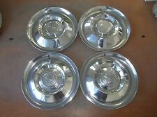 "1955 55 Mercury Hubcap Rim Wheel Cover Hub Cap 15"" OEM USED SET 4"