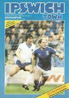 Ipswich Town v Southampton - Div 1 - 1/1/1983 - Football Programme