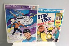 Vintage Star Trek Puzzle & Book & Record Never Opened 1970's
