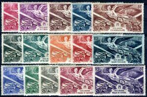 FRANZÖSISCHE KOLONIEN 1946 VICTOIRE * SERIE KOMPLETT GSC (08002